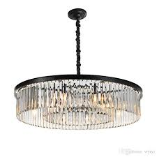 round shape crystal chandelier lighting luminaires hanging light for restaurant crystal american style pendant lamp e14 ac 100 240v with 437 5 piece