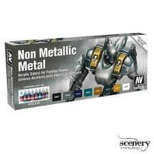 Vallejo Game Color Non Metallic Metal Nmm 8 Kleuren 17ml