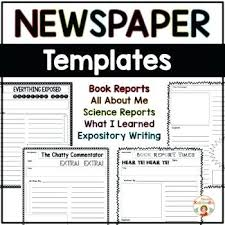 Newspaper Template Illustrator Interactive Newspaper Template Templates For Students School