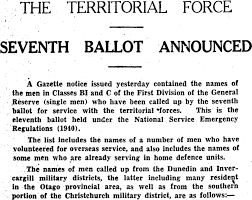 Papers Past | Newspapers | Otago Daily Times | 9 October 1941 | NATIONAL  SERVICE