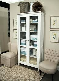 ikea storage cabinets with doors amazing bookcase with glass doors white wood linen cabinet linen intended