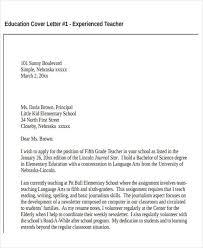 Education Teacher Resume Cover Letter