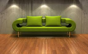 Wonderful Modern Style Green Sofas Artistic Unsual Shape Design Ideas