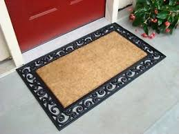 outdoor front door matsFront Door Mat Feet Rug Coconut Fibers Rubber Doormat Floor Shoes