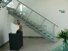 great glass staircase design straight glass stairs crystal stairs