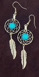 Native American Beaded Dream Catchers Custom Amazon Handmade Dream Catcher Earrings Gold With Turquoise 32