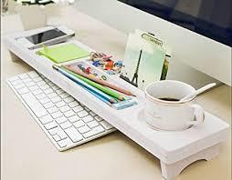 simple desk organizers. Perfect Simple Creative Desk Organizers Box Simple Office Computer Desktop Keyboard  Storage Debris Shelf White For Y