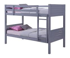 birlea dakota bunk bed rubberwood grey single amazon co uk