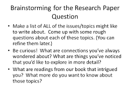 research paper questions the oscillation band research paper questions