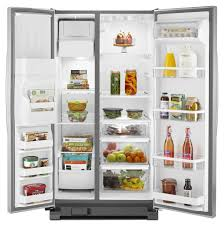 Pc Richards Kitchen Appliances Whirlpool 2449 Cu Ft Side By Side Refrigerator Stainless