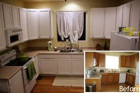 paint kitchen cabinets before and afterPainting Kitchen Cabinets White Before and After Pictures  White