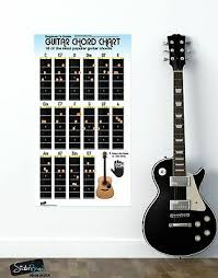 Guitar Chord Chart Poster 16 Popular Chords Guide Perfect