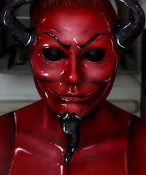 scream queens red devil makeup
