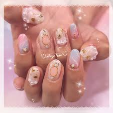 夏ハンド大理石ピンク水色 Angenailのネイルデザインno4335272