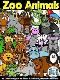 zoo animals together clipart. Unique Clipart Zoo Animals Clip Art Clipart Bundle Animals For Together Clipart T