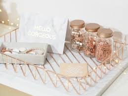 dressing your desk i love these rose gold desk accessories for a pretty feminine