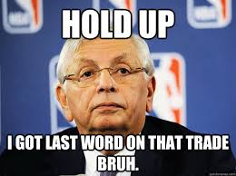 David Stern Vetos memes | quickmeme via Relatably.com