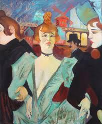 henri de toulouse lautrec painting la goulue together with two women moulin