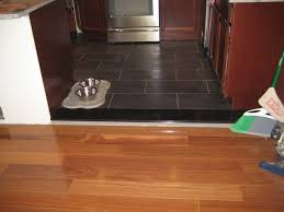 image of tile to wood floor transition design