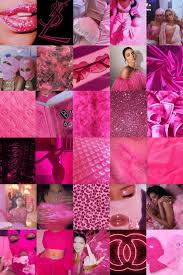 100 Piece Hot Pink Baddie Aesthetic ...