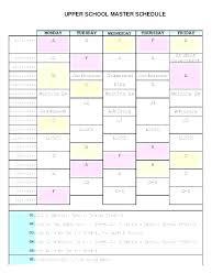 Free Printable Class Schedule Template High School Schedule