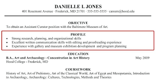Sample Career Profile For Resume Examples Of Profiles For Resumes