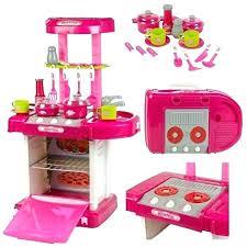 wooden kitchen toy accessorie baby pink appliances pretend play set