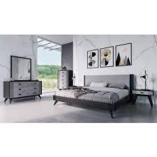 Contemporary black bedroom furniture Man Bedroom Nova Domus Panther Contemporary Grey Black Bedroom Set Vig Furniture Modern Bedroom Bedroom