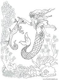 Free Mermaid Coloring Pages Free Mermaid Coloring Pages