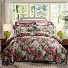 luxury jacquard cotton bed linen blue red pink silver gold satin bedding set bedspread queen king size duvet cover sheet set king comforter sets purple
