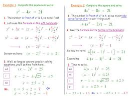 example 1 complete the square and solve
