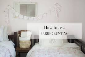 learn how to make fabric bunting from s fabrics to match a kids room