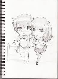 anime chibi couple drawing. Exellent Drawing Sketch Book  Chibi Couple By Qsholic  In Anime Chibi Couple Drawing R