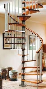 Gamia Deluxe Spiral Staircase 1200mm Silver with real wood handrail >  http://www