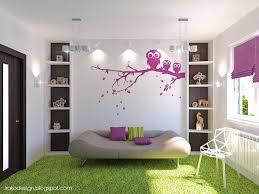 Purple White Green Wenge Girls Room