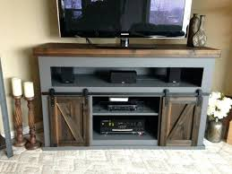 sliding door tv stand interior rustic entertainment center with barn doors alluring to build stand out sliding door tv stand