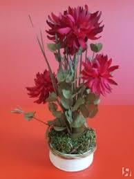 Купить Хризантемы в кашпо PRIMANOVA, 42*14*14 см, красный ...