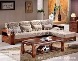 apartment size living room furniture. oak coffee table combination of solid wood sofa cushion cotton chinese size apartment living room furniture