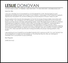 Lpn Cover Letter Sample Cover Letter Templates Examples