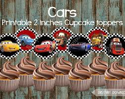 Cars Cupcake Toppers Etsy