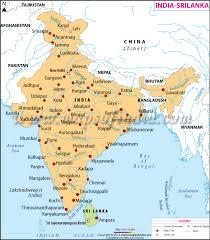 India Srilanka Map Map Of India And Srilanka