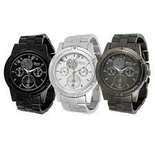 ese quartz geneva men s watches shop the best deals for geneva platinum men s chronograph style link watch