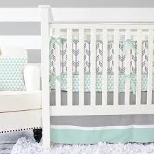 mint  gray arrow modern baby bedding  arrow pattern modern
