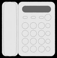固定電話家電機器情報機器フリーイラスト素材無料商用利用可