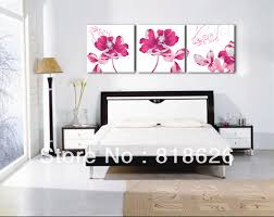 ... Decorating Hammered Bedroom Canvas Wall Art Inspired Interior Design  Manufactured Aliexpress Three Pieces Panel Bright Lotus ...