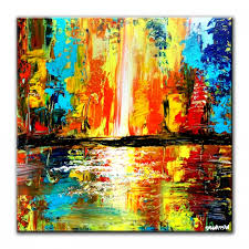 city journal abstract painting