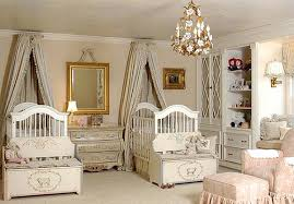 A palace like nursery give your twin princesses great inspiration, like  this one found on Kid space Stuff, by adding royal touches like Victorian  style ...
