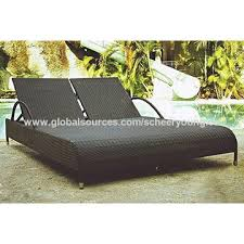china garden rattan chaise lounges outdoor reclining sofa patio lounges
