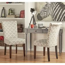 catherine moroccan pattern fabric parsons dining chair set of 2 by inspire q bold