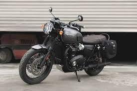 Triumph T120 Black Saddle Bags Panniers Legend Gear Sw Motech Uk 1s Jpg 750 500 Motos Carreras Motocicletas